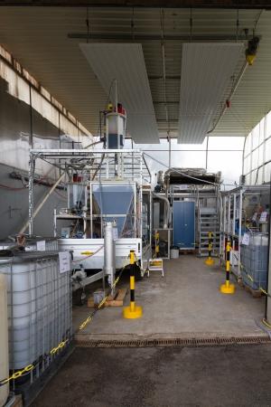 BioEcoSIM-Pilotanlage zur Gülleaufbereitung und -verwertung.